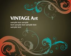 Free Vintage Template Frame Stock Photography - 8570492