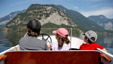 Free Mother With 2 Kids In A Boat Stock Image - 8570861