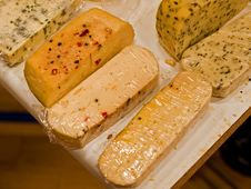 Variety Of Different Cheese Products Royalty Free Stock Photos