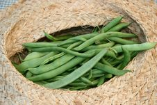 String Beans In A Basket Stock Images