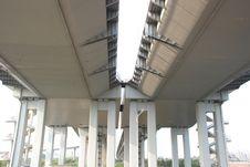 Free The Bridge Columns And Bottom Royalty Free Stock Photos - 8571178