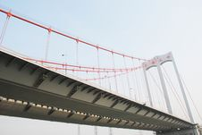 Free The Modern Cable Stayed Bridge Royalty Free Stock Photography - 8571187
