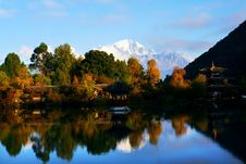 Lijiang City In Autumn Stock Image