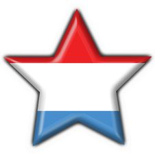 Free Luxembourg Button Flag Star Shape Stock Photography - 8572002