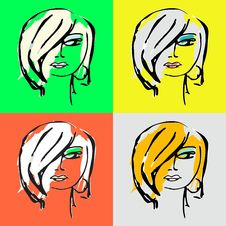 Free Woman Face Silhouette For Your Design Royalty Free Stock Images - 8572109