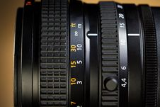 Close Up Of Professional Lens Royalty Free Stock Image