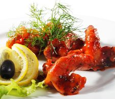Seafood - Shrimps Stock Images