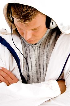 Free Young Guy Listening To Music With Headphones Royalty Free Stock Photography - 8573197