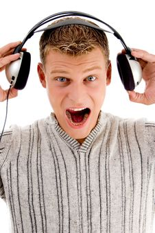 Free Young Man Listening To Music Royalty Free Stock Images - 8573199