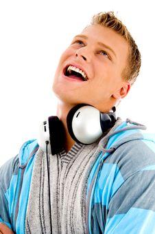Free Man With Headphones Around His Neck Stock Photos - 8573213