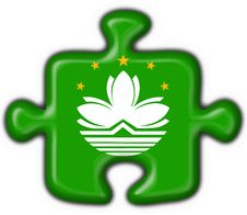 Free Macao Button Flag Puzzle Shape Stock Images - 8573234