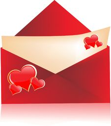 Love Letter With Envelope Stock Image