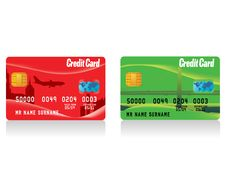Free Vector Realistic Credit Cards Stock Image - 8573961