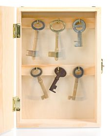 Free Moving Keys In Wooden Box Royalty Free Stock Photo - 8574105