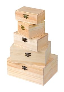 Free Wooden Boxes Royalty Free Stock Photo - 8574165