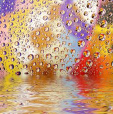 Free Coloured Water Drops Stock Photo - 8574170