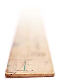 Free Wooden Ruler. Royalty Free Stock Image - 8574486