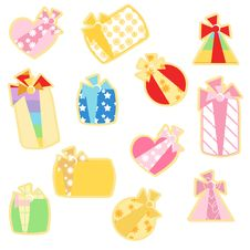 Gift Icons Royalty Free Stock Images