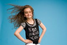 Free Girl Showing Her Hair In Motion Royalty Free Stock Images - 8574789