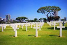 Military Garden Cemetery Royalty Free Stock Photos