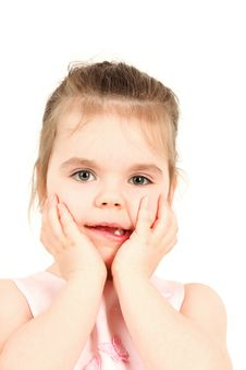 Free Little Girl And Her Beautiful Grimace Royalty Free Stock Photo - 8575745