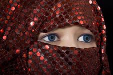 Free Blue Eyes Orient Royalty Free Stock Photos - 8577348