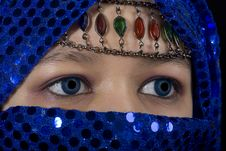 Blue Eyes Orient Stock Images