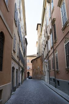 Free Lane In Modena In Summer Stock Images - 8577894
