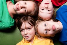 Free Happy Color Schoolkids Stock Photo - 8578240