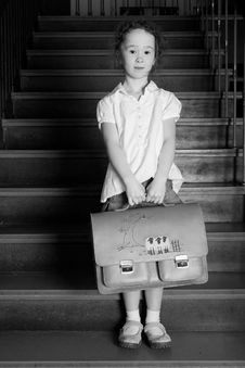 Free Little Girl On The Stairs Royalty Free Stock Photography - 8578707
