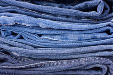 Free Stack Of Blue Jeans Background Royalty Free Stock Images - 8579599