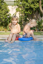 Free Two Children In A Pool Stock Photo - 8581980