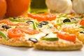 Free Homemade Pizza Fresh Tomato Olive Mushroom Cheese Stock Photos - 8585543
