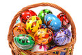 Free Easter Eggs In Wicker Basket Stock Photography - 8586122