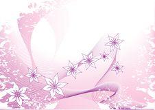Pink Floral Card Stock Photos
