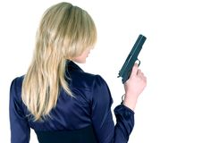 Free Girl With Gun Stock Image - 8580261