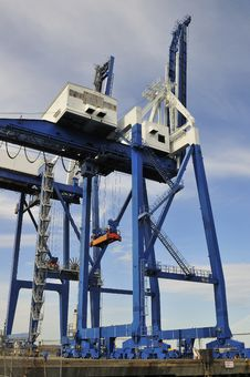 Container Terminal 50 Ton Container Cranes Stock Photography