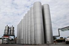 Steel  Silo Stock Photos