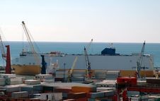 Commercial Port, Salerno Stock Images