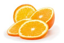 Free Cut Slices Orange Stock Photography - 8580972