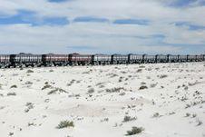 Free Iron Ore Train In The Sahara, Mauritania Royalty Free Stock Photography - 8581197