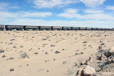 Free Iron Ore Train In The Sahara, Mauritania Royalty Free Stock Photography - 8581257