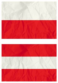 Free Poland And Austria Flags Stock Photography - 8581262
