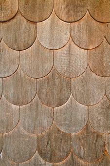Free Wooden Shingle Wall Stock Photography - 8581562