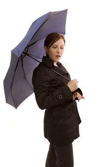 Free Woman With Umbrella Stock Photo - 8581780