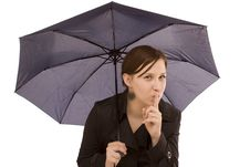 Free Woman With Umbrella Stock Photography - 8581792