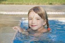 Girl In The Swimming-pool Royalty Free Stock Images