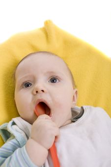 Free Eating Baby Royalty Free Stock Photography - 8581977