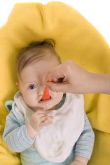 Free Eating Baby Royalty Free Stock Images - 8582009