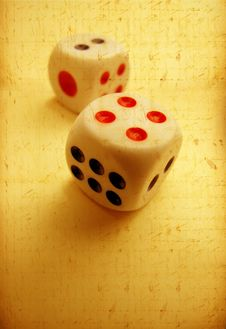 Free Square Dice Royalty Free Stock Images - 8582489